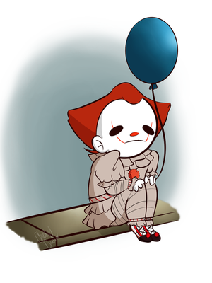 the loner clown by PUPPYPOWER123