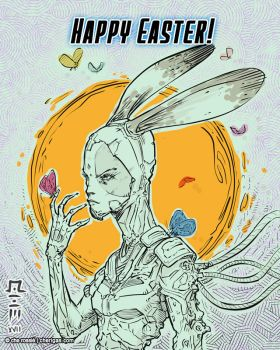 Easter bunny by che-rigas