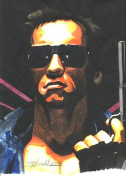 Arnie-The Terminator by gadget1998