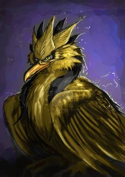 Zapdos speedpainting by ladyinspiration