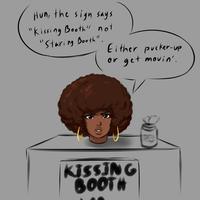 Launna's Kissing Booth by Franktonius