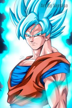 Goku Super Saiyan Blue by Sersiso