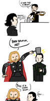 Thor and Loki by SweetTeaNPeaches