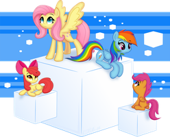 Ponies on Cubes by CTB-36