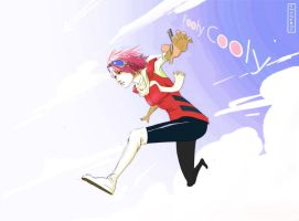 FLCL Haruko Fan Art w/Speed Paint Video by ShaneBot