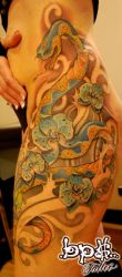 Snake, flowers and beetle by BPS-TATTOO