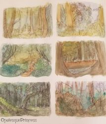 .:: Forest Studies ::. by OpalesquePrincess