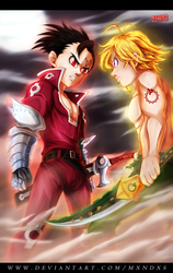 Nanatsu no Taizai 173 - Meliodas vs Zeldris by mxndxs