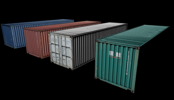 Shipping Containers by BenHinman