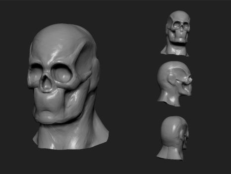 Male head Study WIP by Ahmed-Taher