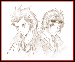 Axel and Reno by oOYoru-Ai-KitsuneOo