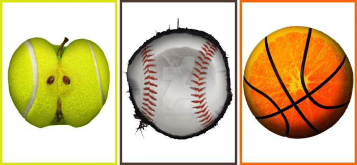 Fruits with Sports Collage by YesimMisey123