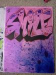 Smile Graffiti drawing by Juicebox617