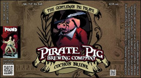 Pirate Pig - Cochon Brun by misfit1138