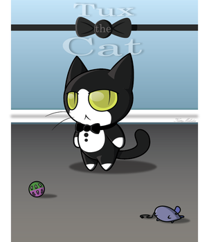 Tux the Cat(digital) by KittyMelodies