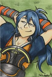 Oboro Kicks it Back - Commission by aaronmizuno