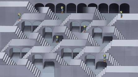 Stairway maze by mimupon