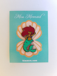 Miss Mermaid Enamel Pin by Kimmorz