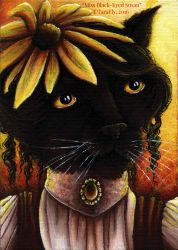 Black-Eyed Susan Cat by TaraFlyArt