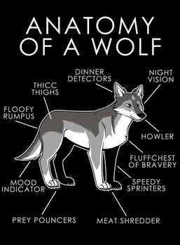 Anatomy of a Wolf by artwork-tee