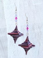 Origami Spiral Earrings by sakuralu83