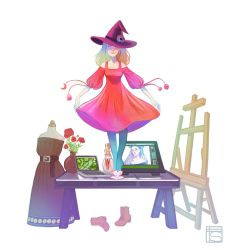 My Witchy Workspace by FloorSteinz