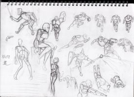 More pose practicing by ChromeFlames