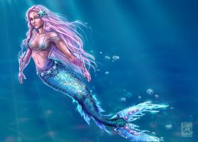 Little shiny Mermaid by Vallynia