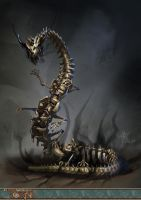 Skeletal Behir by yanzi-5
