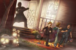 Trick or Chainsaw by Slippery-Jack