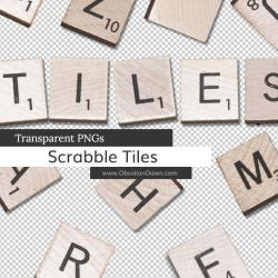 Scrabble Tiles PNGs by redheadstock