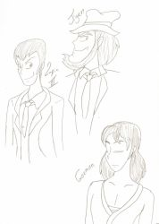 Lupin the 3rd doodles by wolfjmk
