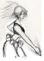 King of Fighters - Leona Sketch by hyrelynk