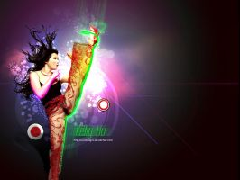 Kelly Hu Wallpaper by owdesigns
