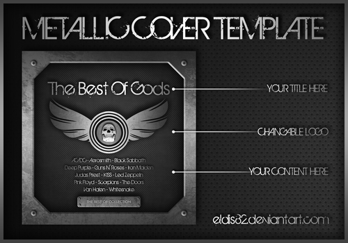 Metallic CD Cover Template by elddes