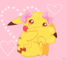 sweet Pikachu Girl by jirachicute28