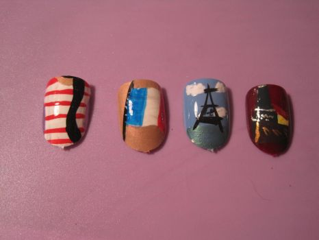 French Inspired Nails by hatterlet