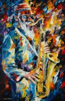 Pharoah Sanders by Leonid Afremov by Leonidafremov