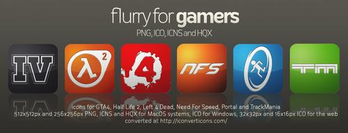 Flurry Icons for Gamers by HeskinRadiophonic
