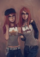 Redheads, Glasses, and Raglans by oshirockingham