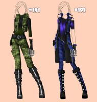 [closed] Auction camouflage Outfits famale 191-192 by YuiChi-tyan