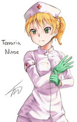 Terraria Nurse! by ajidot