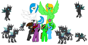 Changelings vs My mane 6 by TheStoryTeller2001