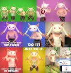 Muscular Kyubey FBX and unfinished PMX download by VERTEX768MHz