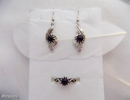 'Elven treasures', sterling silver jewelry set by seralune