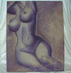 Nude 3 painted by ankhesnamun