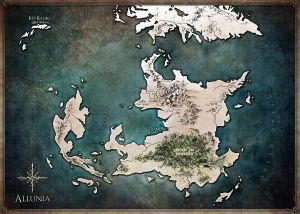 Allunia worldmap by Tiphs