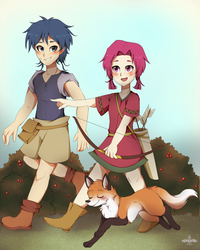 Childhood of Colm and Neimi by manatiki