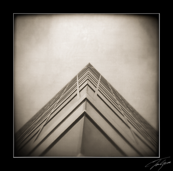 holga looking up at library by electricjonny