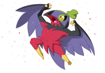 Shiny Hawlucha by Willow-Pendragon